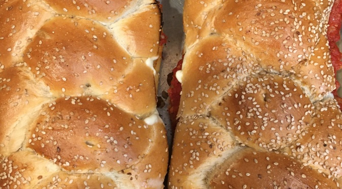 MEATBALL HERO PARMESAN (party sandwich)