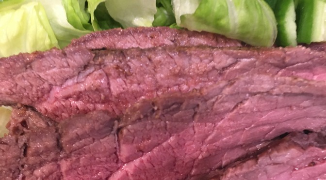 GRILLED WHOLE BEEF LONDON BROIL