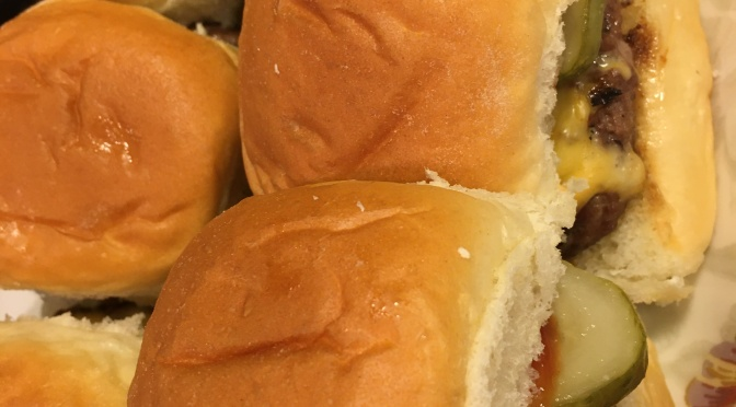 WELCOME TO AUGUST and CHEESEBURGER Sliders